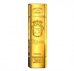 3 KILOS GOLD VODKA 1,0L