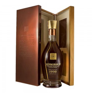 GLENMORANGIE GRAND VINTAGE MALT 1990 SINGLE MALT WHISKY 0,7L + SKRZYNKA
