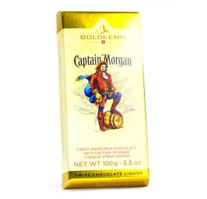 GOLDKENN CZEKOLADA Z RUMEM CAPTAIN MORGAN 100G
