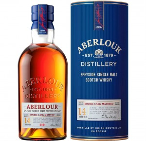 ABERLOUR 14YO DOUBLE CASK MATURED SINGLE MALT WHISKY 0,7L + TUBA