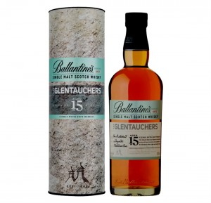 BALLANTINE'S THE GLENTAUCHERS 15YO WHISKY 0,7L + TUBA