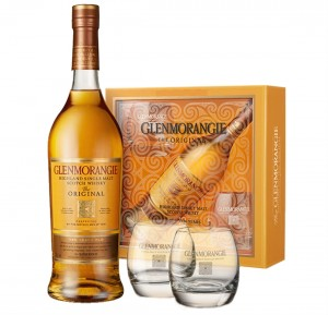 GLENMORANGIE THE ORIGINAL 10YO SINGLE MALT WHISKY 0,7L + 2 SZKLANKI