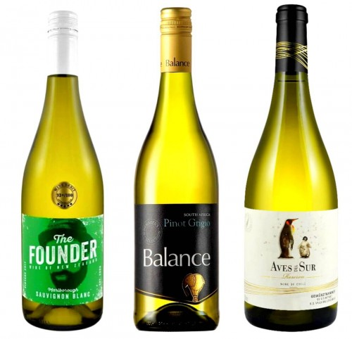 ZESTAW 'WHITE WINE TRIO' - (THE FOUNDER + BALANCE + AVES DEL SUR) 3*0,75L